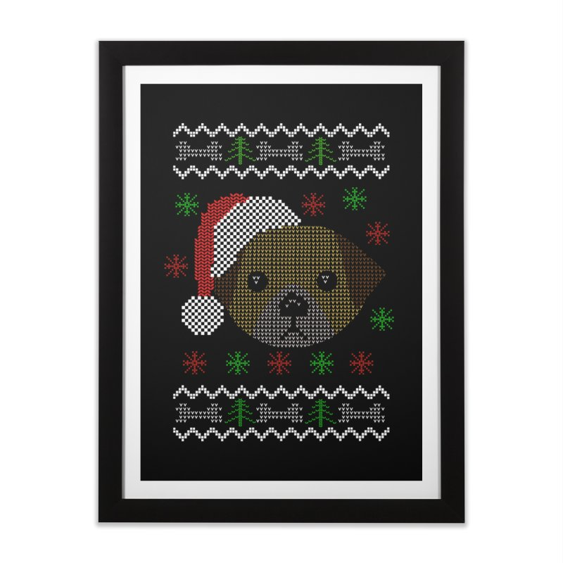 Navidad Dog Home Framed Fine Art Print by damian's Artist Shop