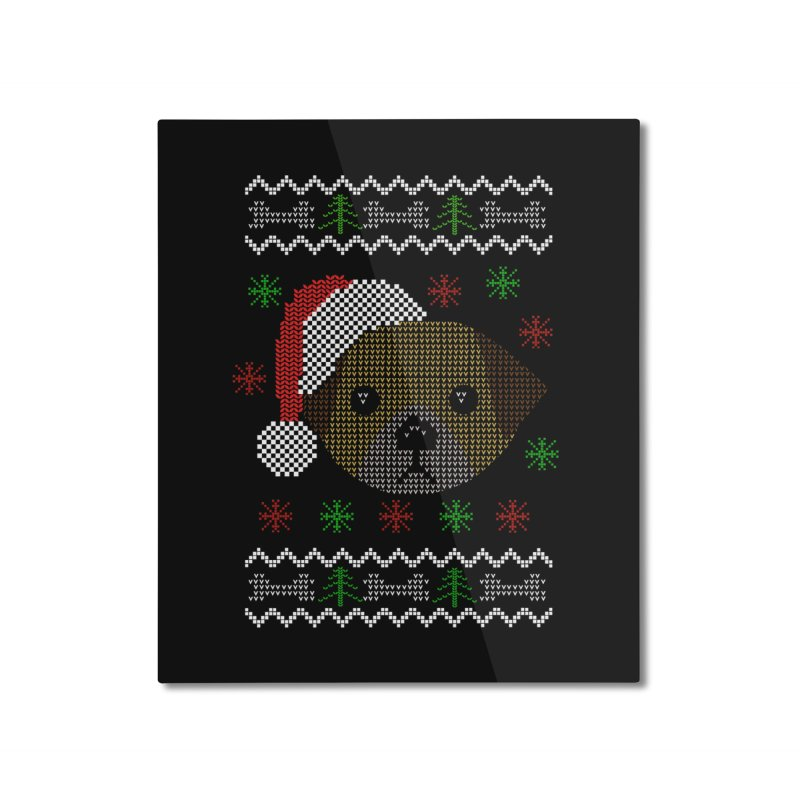 Navidad Dog Home Mounted Aluminum Print by damian's Artist Shop