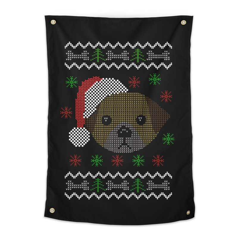 Navidad Dog Home Tapestry by damian's Artist Shop