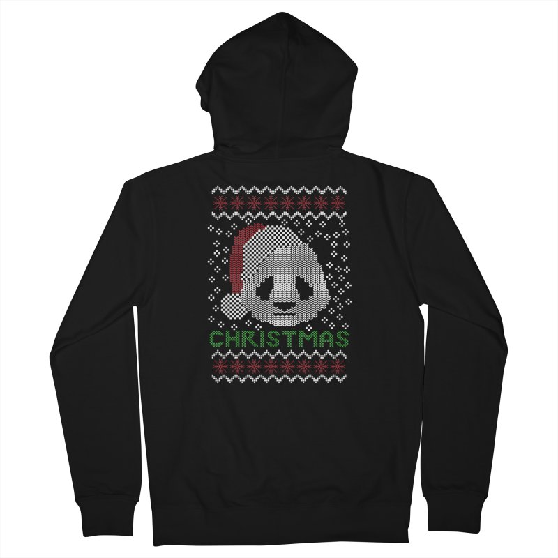 Oso Panda Christmas Men's Zip-Up Hoody by damian's Artist Shop