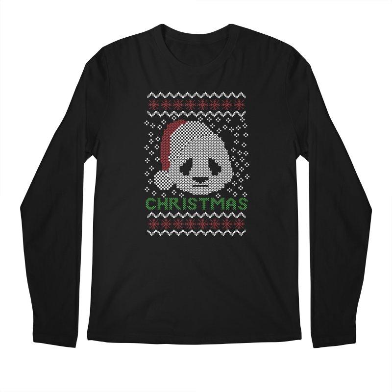 Oso Panda Christmas Men's Longsleeve T-Shirt by damian's Artist Shop