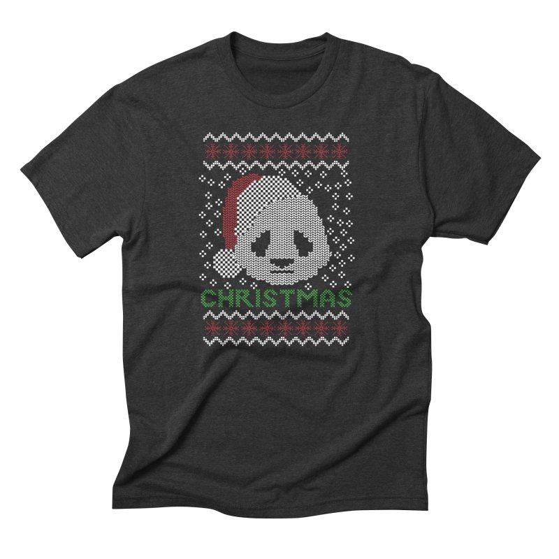 Oso Panda Christmas Men's Triblend T-Shirt by damian's Artist Shop