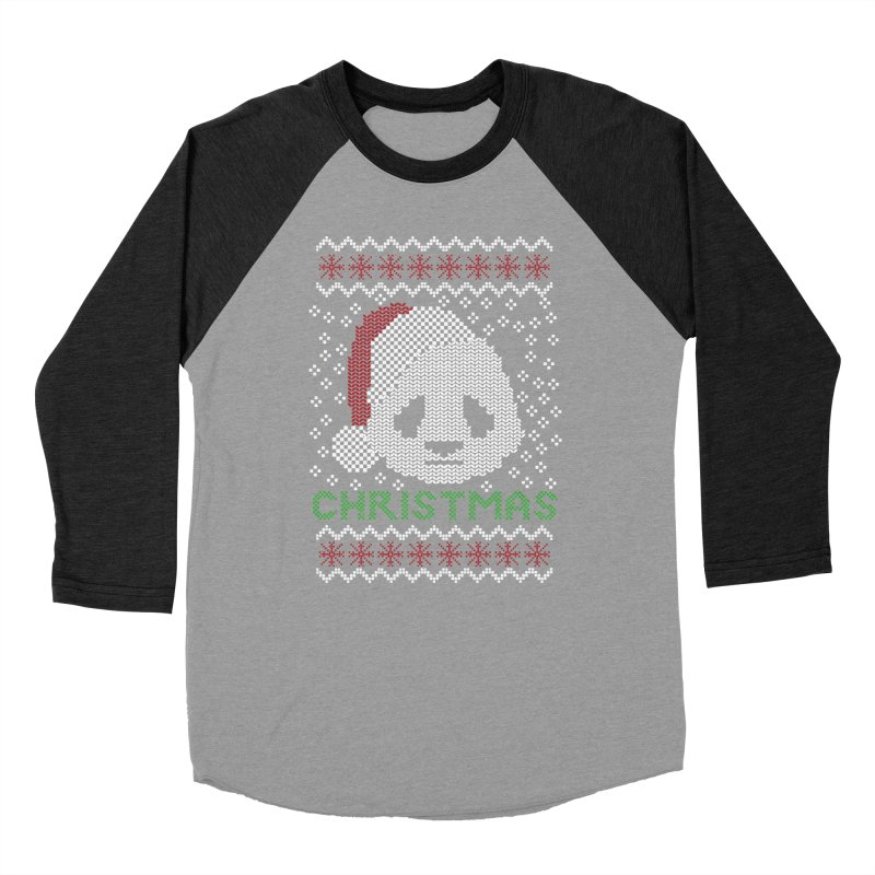 Oso Panda Christmas Women's Baseball Triblend T-Shirt by damian's Artist Shop