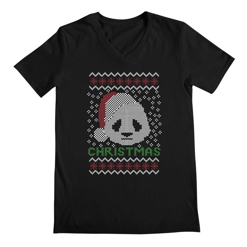Oso Panda Christmas Men's V-Neck by damian's Artist Shop