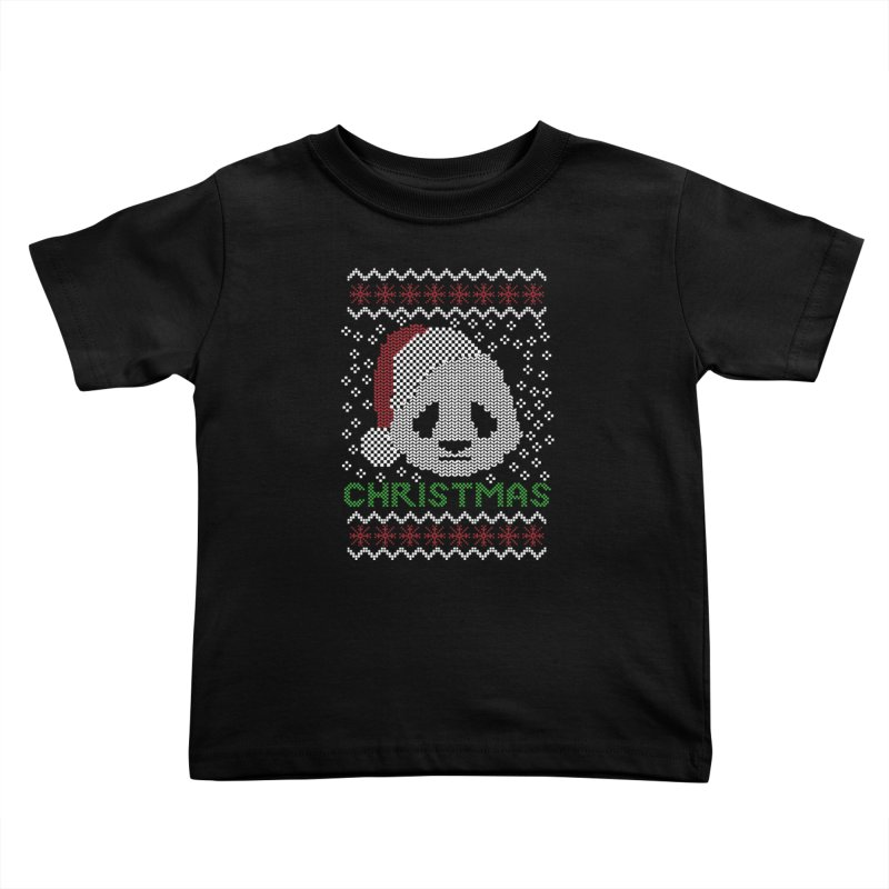 Oso Panda Christmas Kids Toddler T-Shirt by damian's Artist Shop