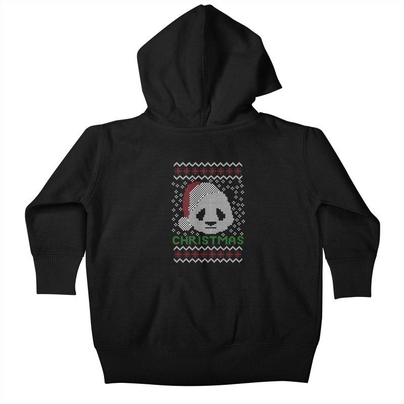 Oso Panda Christmas Kids Baby Zip-Up Hoody by damian's Artist Shop