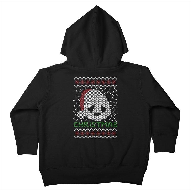 Oso Panda Christmas Kids Toddler Zip-Up Hoody by damian's Artist Shop