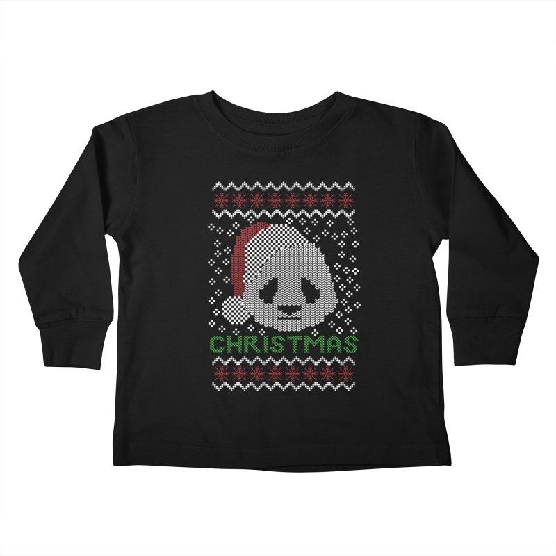 Oso Panda Christmas Kids Toddler Longsleeve T-Shirt by damian's Artist Shop