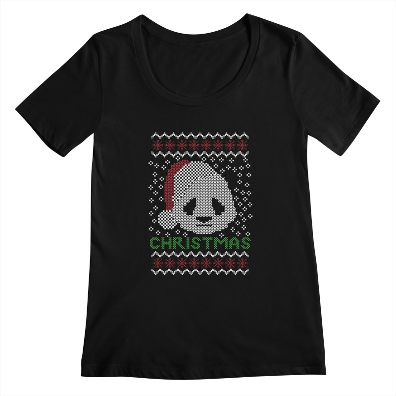 Oso Panda Christmas Women's Scoopneck by damian's Artist Shop