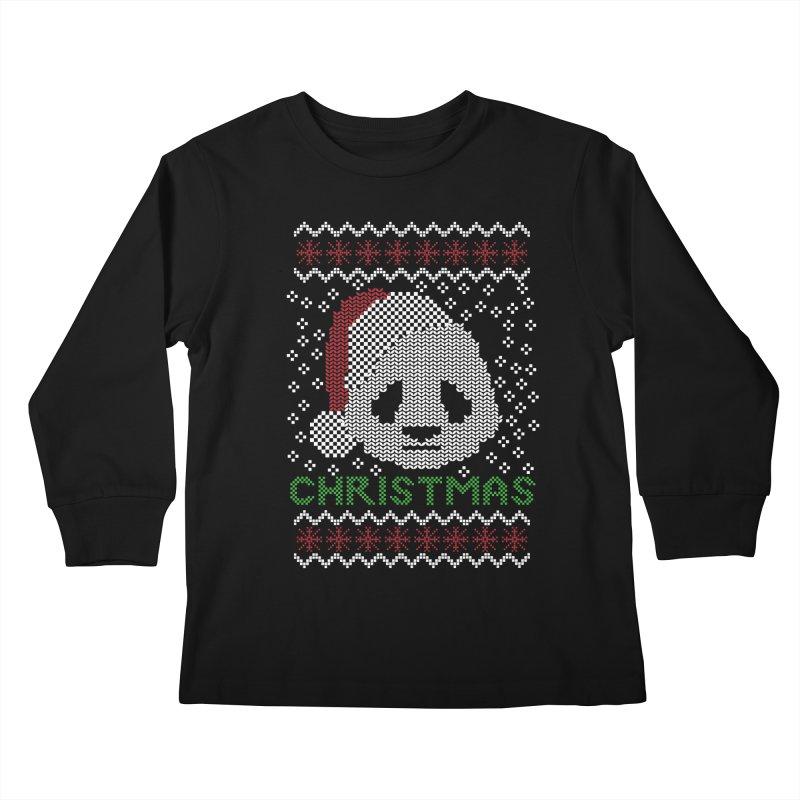 Oso Panda Christmas Kids Longsleeve T-Shirt by damian's Artist Shop