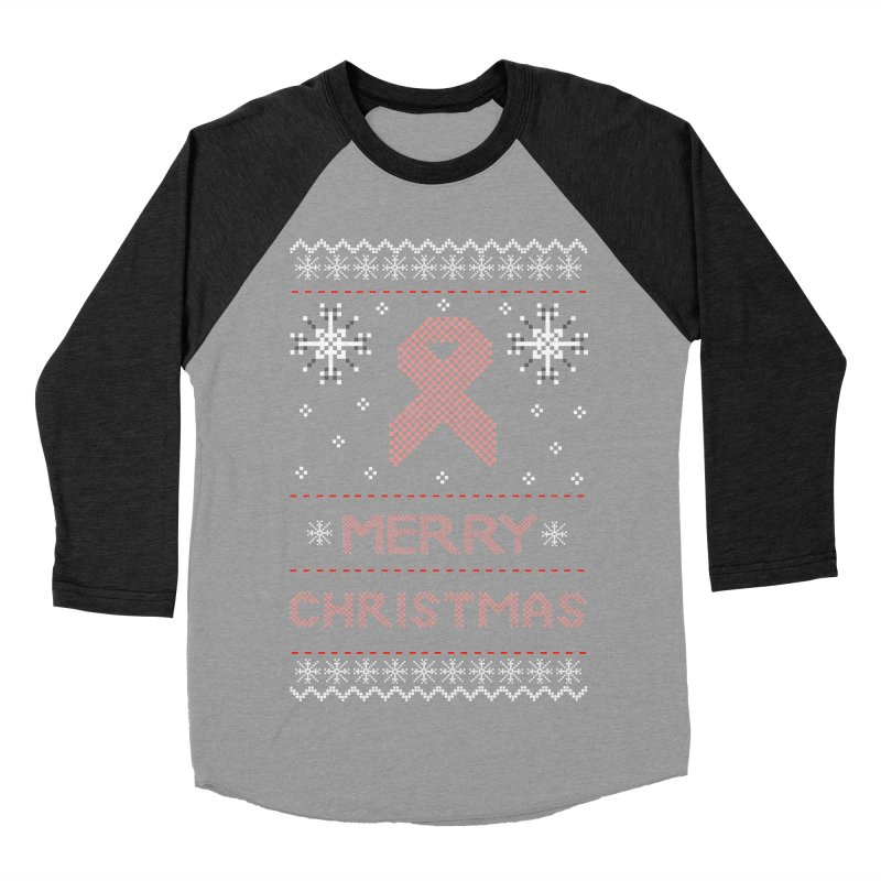 Merry Christmas Men's Baseball Triblend T-Shirt by damian's Artist Shop