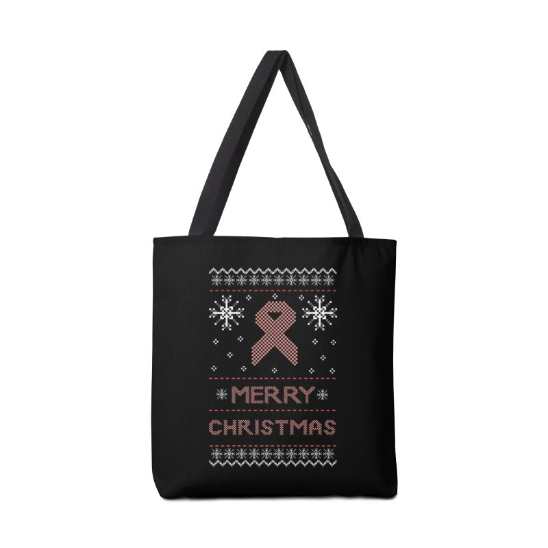 Merry Christmas Accessories Bag by damian's Artist Shop