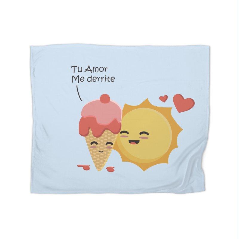 Tu amor me Derrite Home Blanket by damian's Artist Shop
