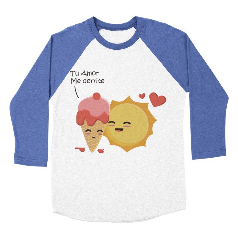 Tu amor me Derrite Women's Baseball Triblend Longsleeve T-Shirt by damian's Artist Shop