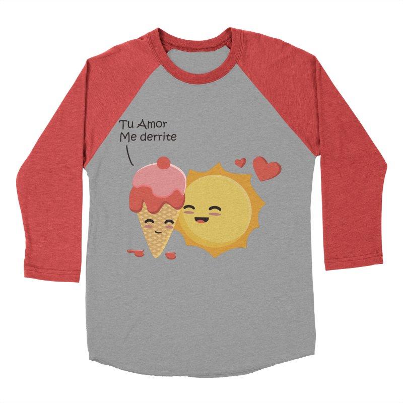 Tu amor me Derrite Women's Baseball Triblend T-Shirt by damian's Artist Shop