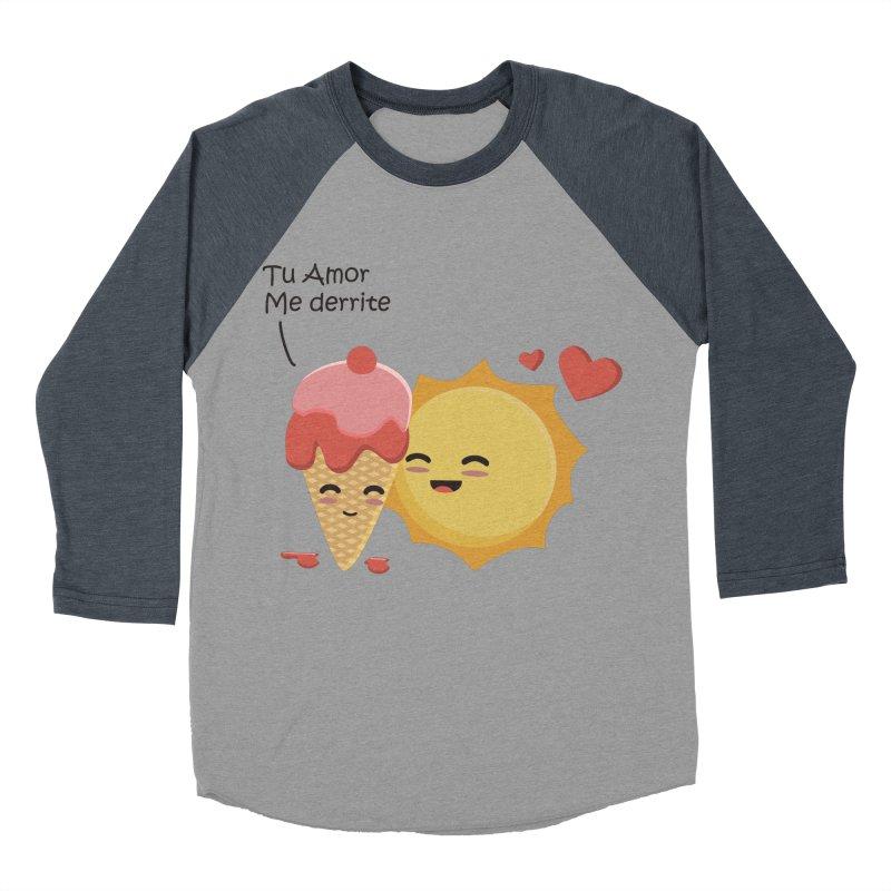 Tu amor me Derrite Men's Baseball Triblend T-Shirt by damian's Artist Shop