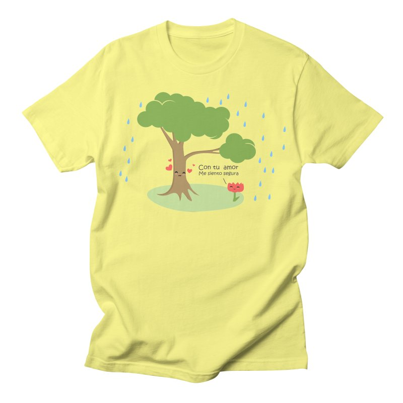 Con tu amor me  siento Segura in Men's Regular T-Shirt Lemon by damian's Artist Shop