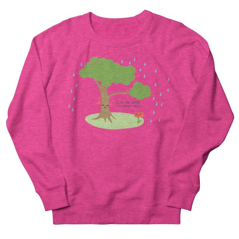 Con tu amor me  siento Segura Women's French Terry Sweatshirt by damian's Artist Shop