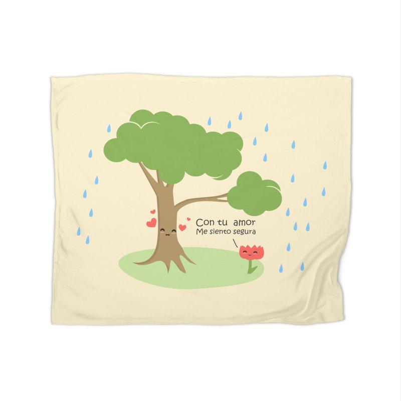 Con tu amor me  siento Segura Home Blanket by damian's Artist Shop