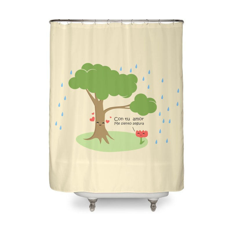 Con tu amor me  siento Segura Home Shower Curtain by damian's Artist Shop