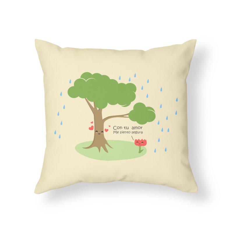 Con tu amor me  siento Segura Home Throw Pillow by damian's Artist Shop