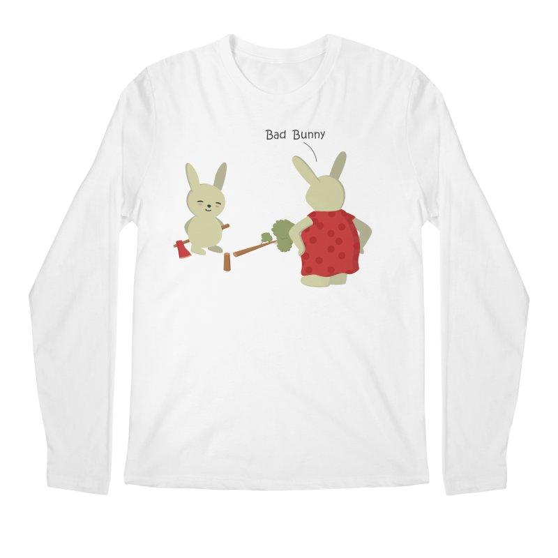 Lindo conejo travieso Men's Longsleeve T-Shirt by damian's Artist Shop