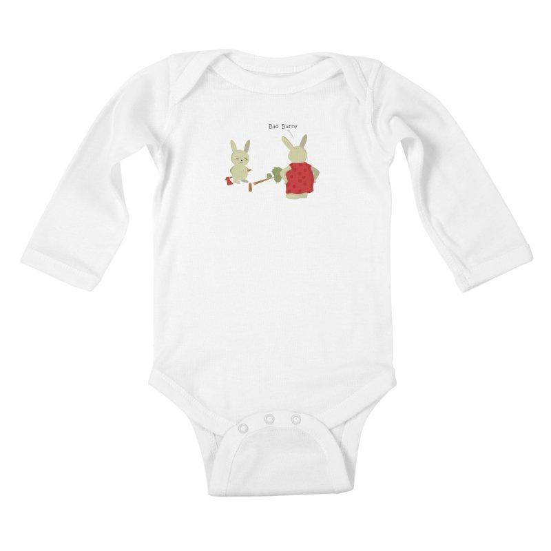 Lindo conejo travieso Kids Baby Longsleeve Bodysuit by damian's Artist Shop