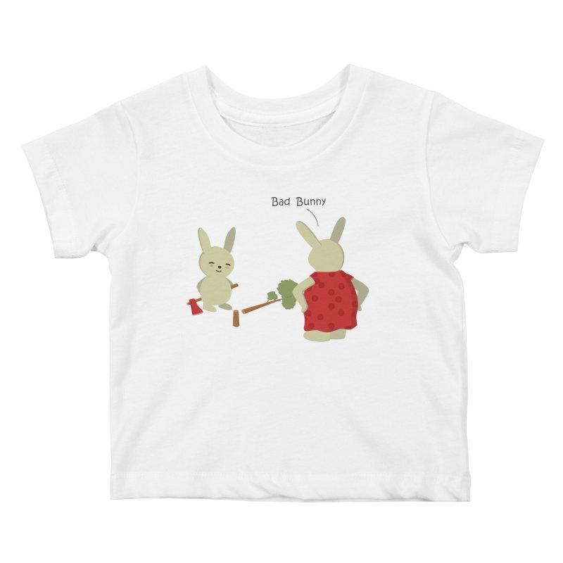 Lindo conejo travieso Kids Baby T-Shirt by damian's Artist Shop