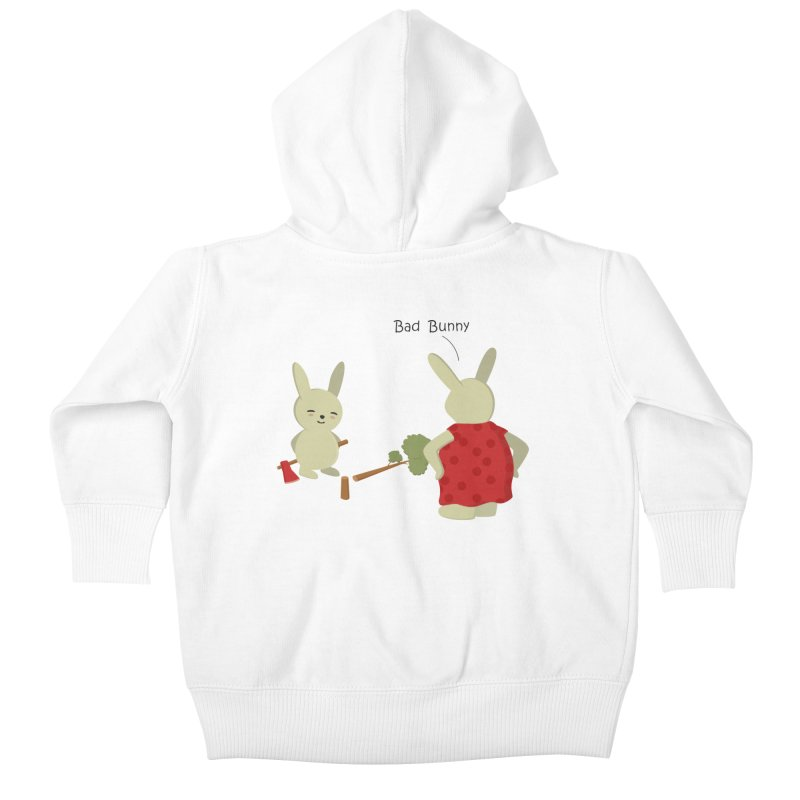 Lindo conejo travieso Kids Baby Zip-Up Hoody by damian's Artist Shop