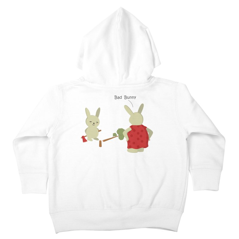 Lindo conejo travieso Kids Toddler Zip-Up Hoody by damian's Artist Shop