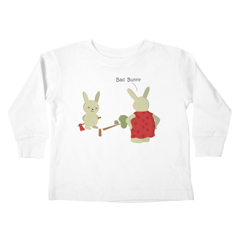 Lindo conejo travieso Kids Toddler Longsleeve T-Shirt by damian's Artist Shop