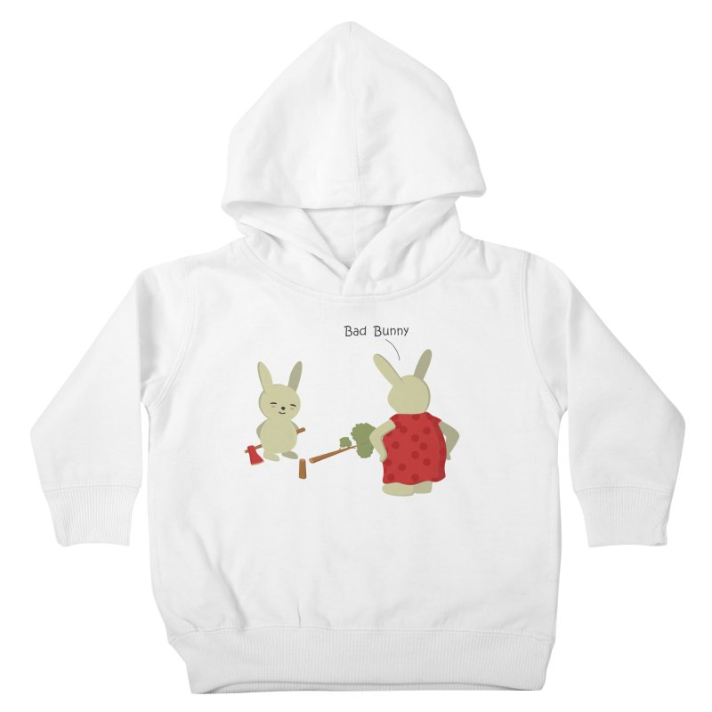 Lindo conejo travieso Kids Toddler Pullover Hoody by damian's Artist Shop