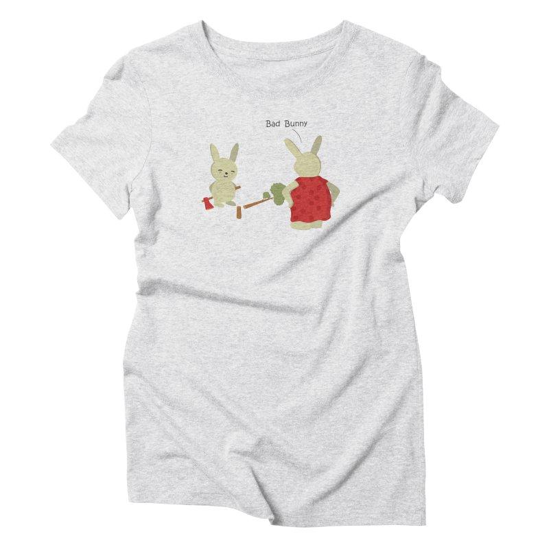 Lindo conejo travieso Women's Triblend T-Shirt by damian's Artist Shop