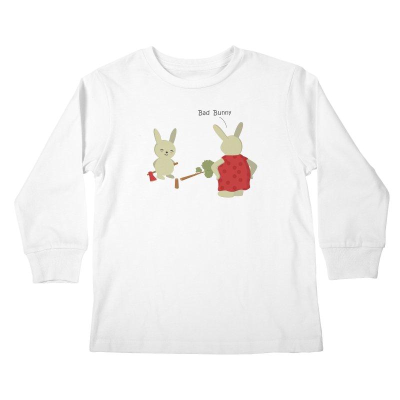 Lindo conejo travieso Kids Longsleeve T-Shirt by damian's Artist Shop