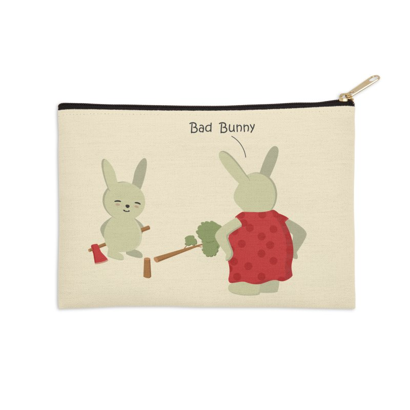Lindo conejo travieso Accessories Zip Pouch by damian's Artist Shop