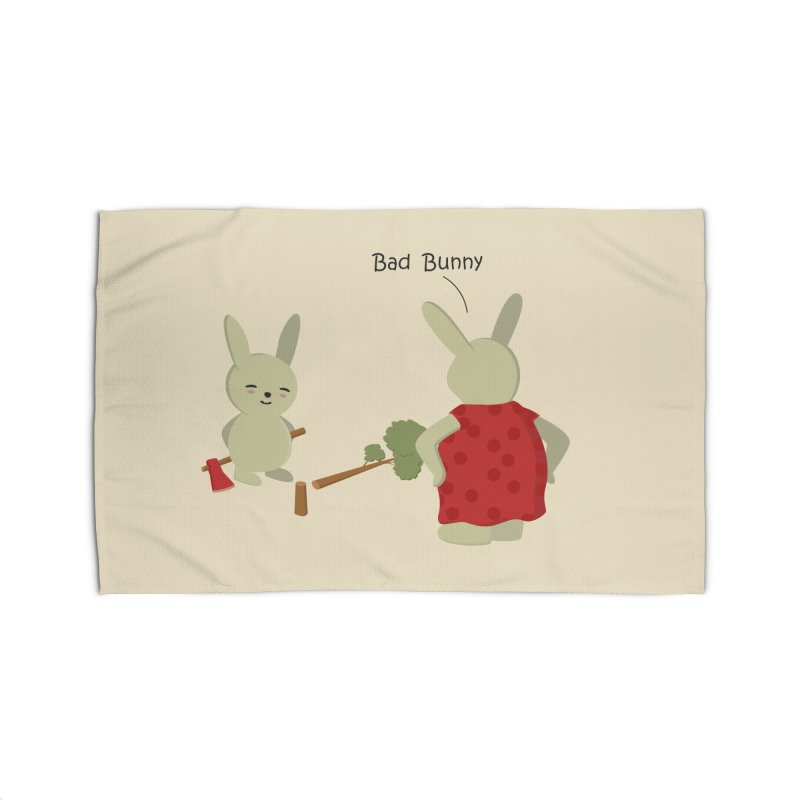 Lindo conejo travieso Home Rug by damian's Artist Shop