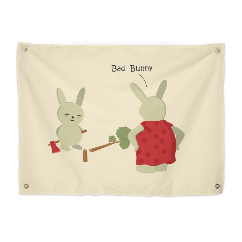 Lindo conejo travieso Home Tapestry by damian's Artist Shop