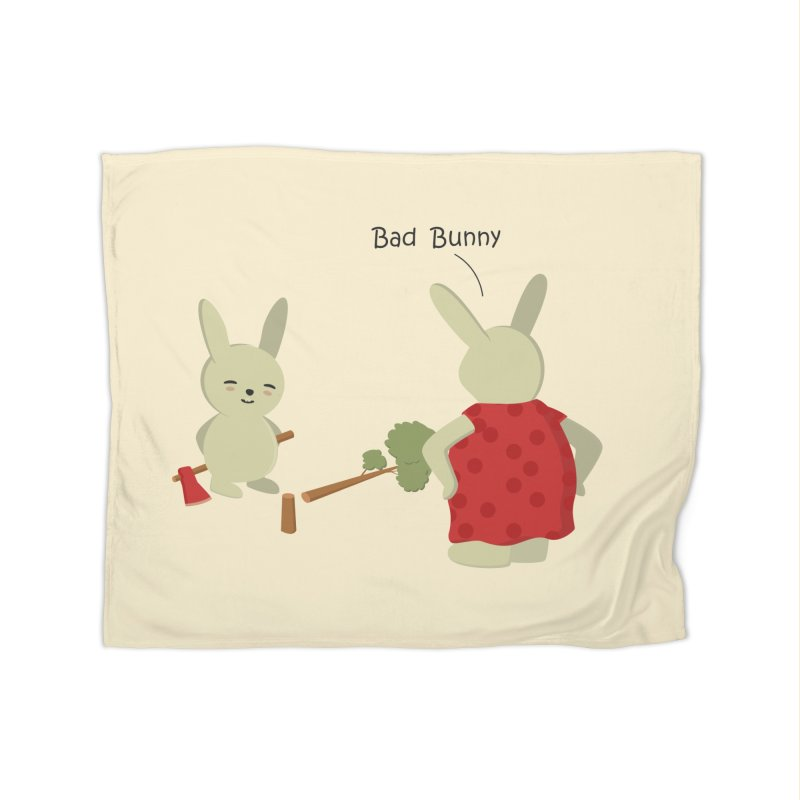 Lindo conejo travieso Home Fleece Blanket Blanket by damian's Artist Shop