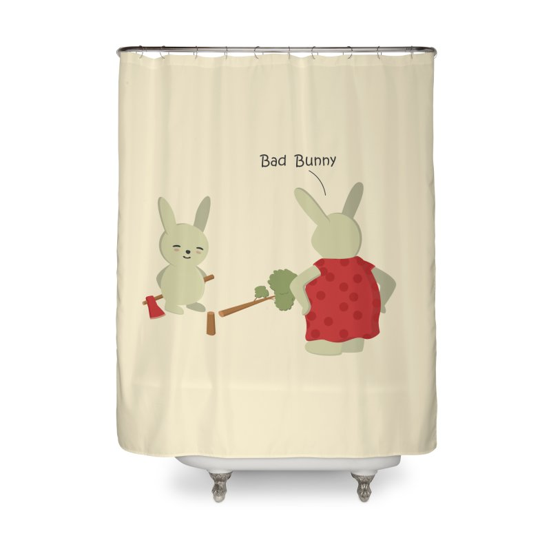 Lindo conejo travieso Home Shower Curtain by damian's Artist Shop