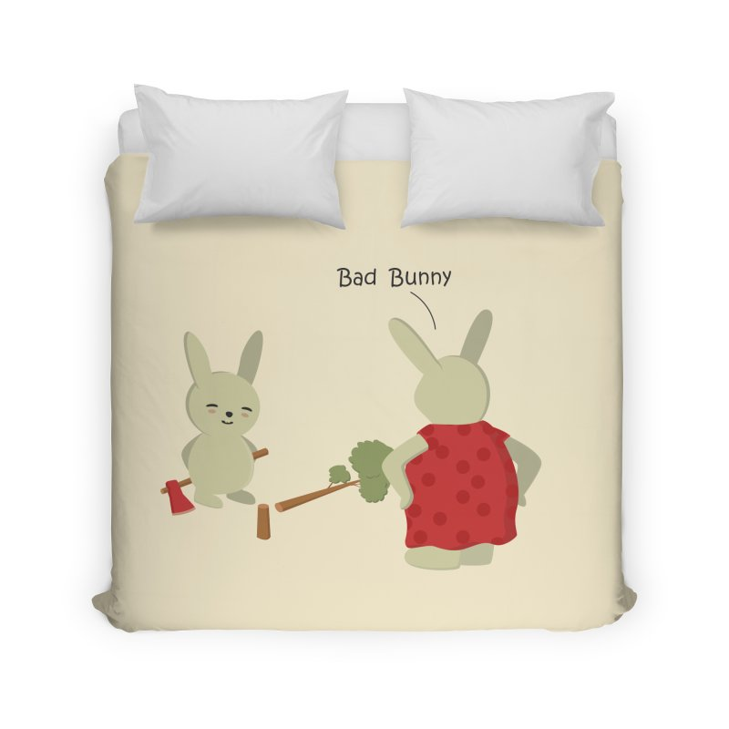 Lindo conejo travieso Home Duvet by damian's Artist Shop