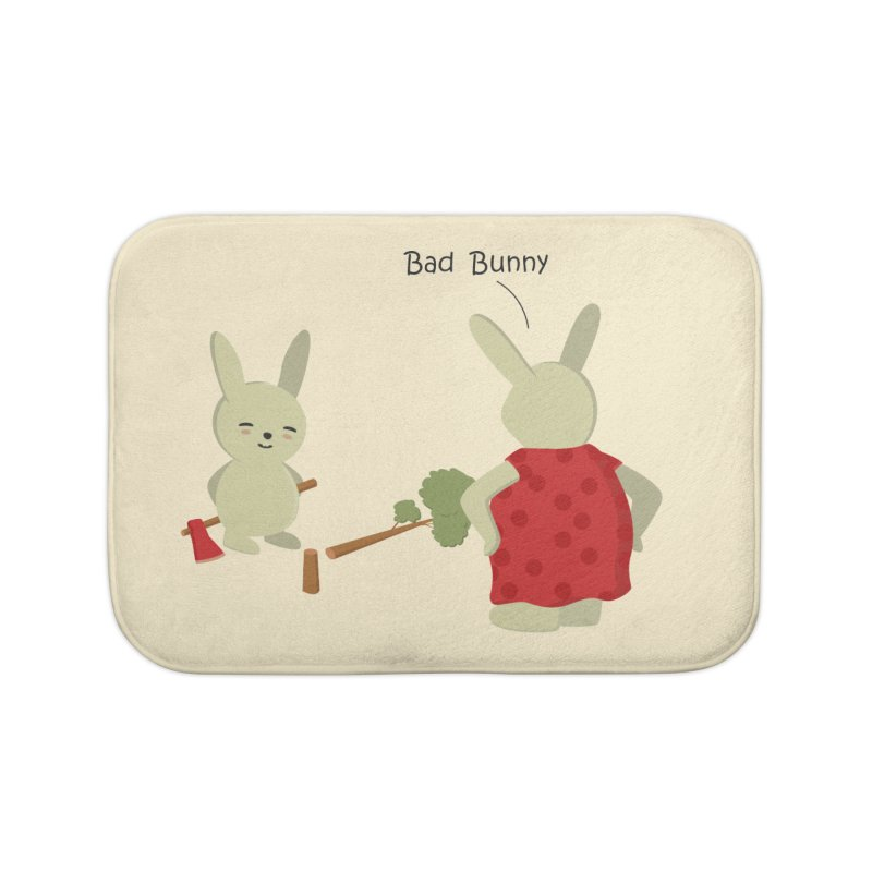 Lindo conejo travieso Home Bath Mat by damian's Artist Shop