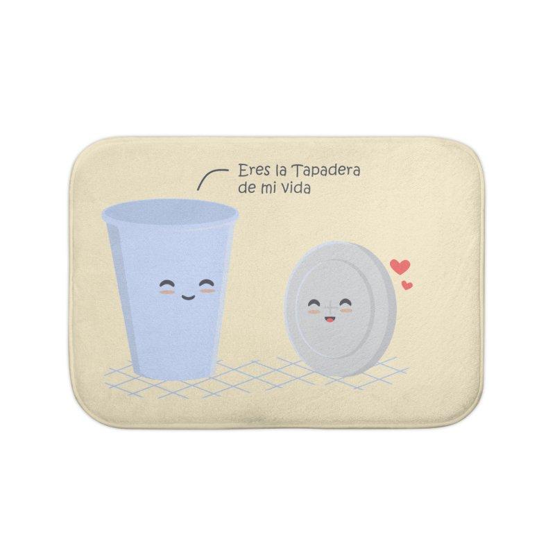 Eres la Tapadera de mi Vida Home Bath Mat by damian's Artist Shop