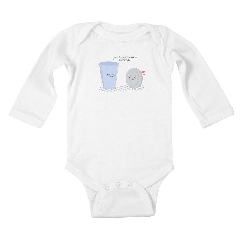 Eres la Tapadera de mi Vida Kids Baby Longsleeve Bodysuit by damian's Artist Shop