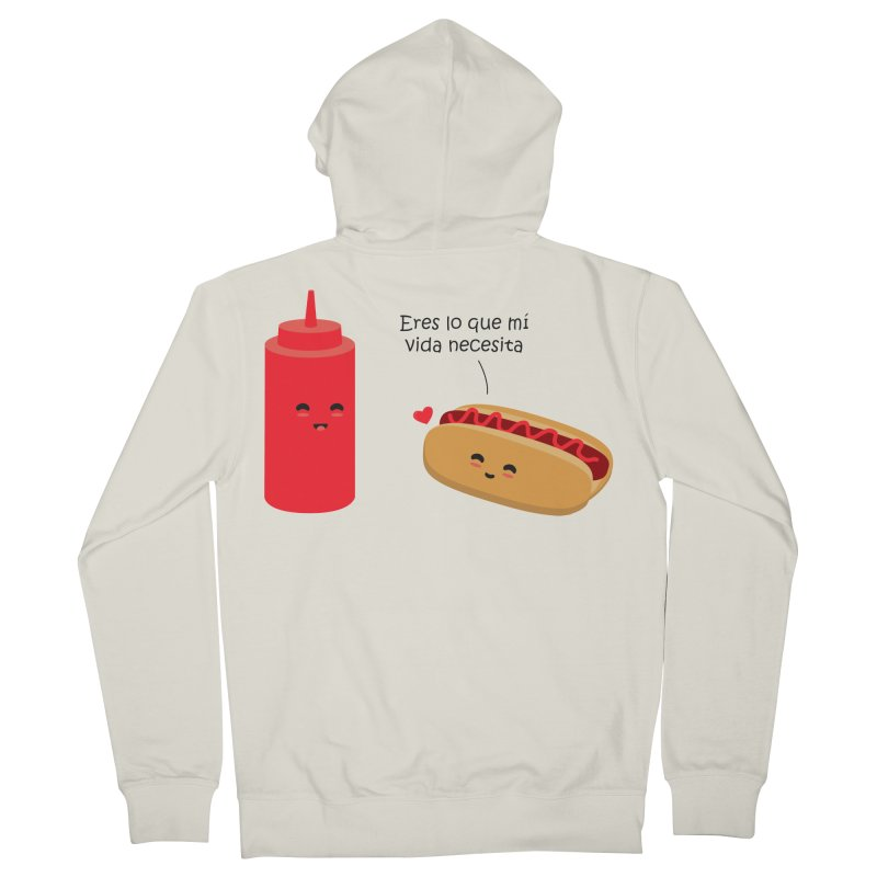 Eres  lo que mi vida necesita Men's Zip-Up Hoody by damian's Artist Shop