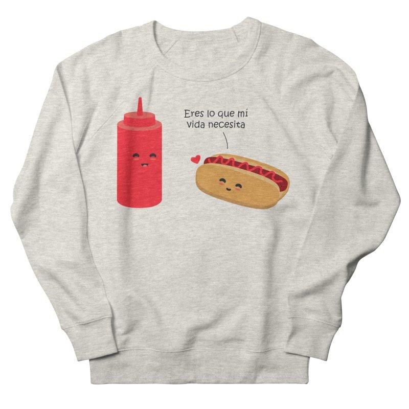 Eres  lo que mi vida necesita Men's French Terry Sweatshirt by damian's Artist Shop