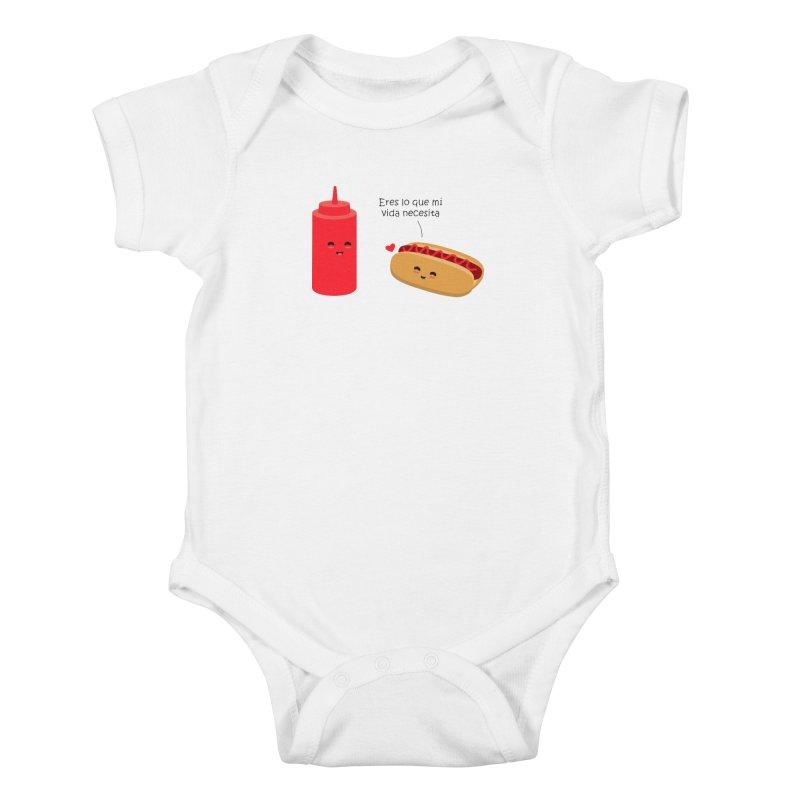 Eres  lo que mi vida necesita Kids Baby Bodysuit by damian's Artist Shop