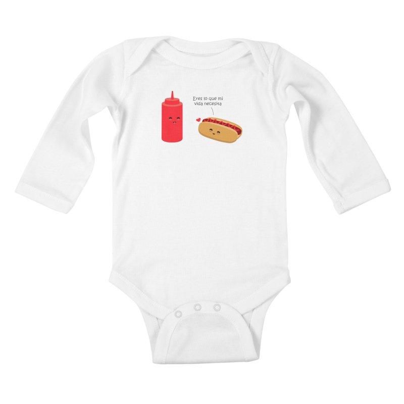 Eres  lo que mi vida necesita Kids Baby Longsleeve Bodysuit by damian's Artist Shop