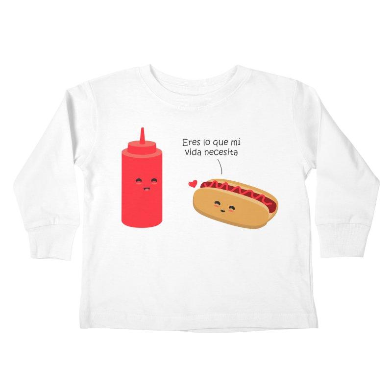 Eres  lo que mi vida necesita Kids Toddler Longsleeve T-Shirt by damian's Artist Shop