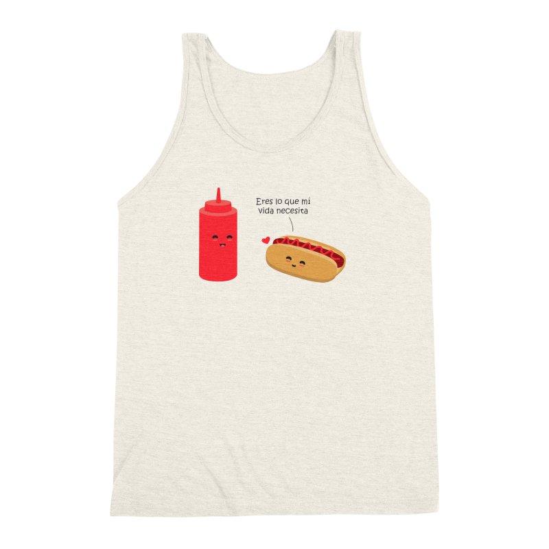 Eres  lo que mi vida necesita Men's Triblend Tank by damian's Artist Shop