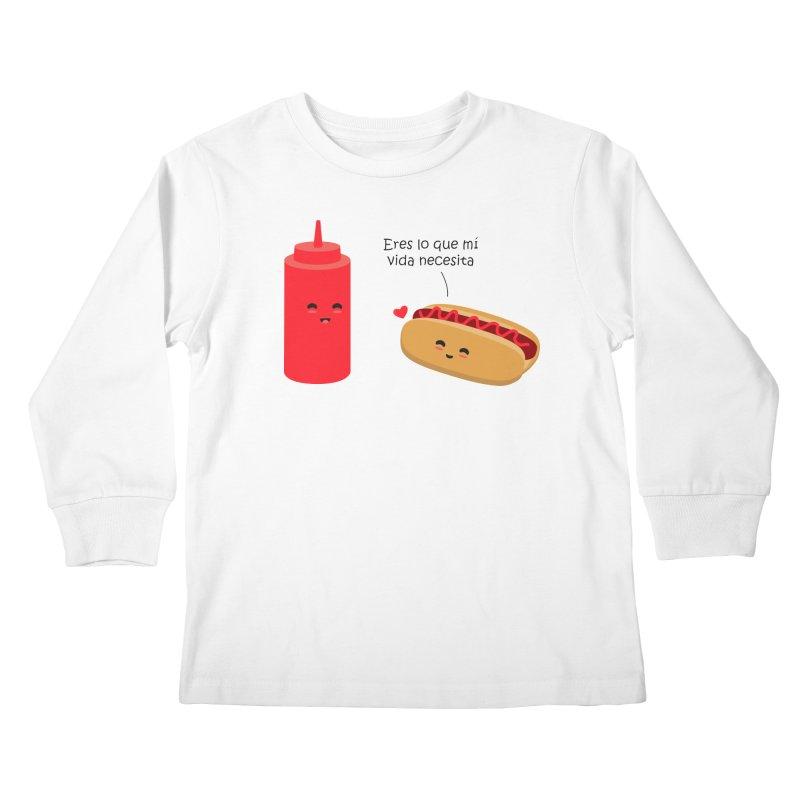 Eres  lo que mi vida necesita Kids Longsleeve T-Shirt by damian's Artist Shop